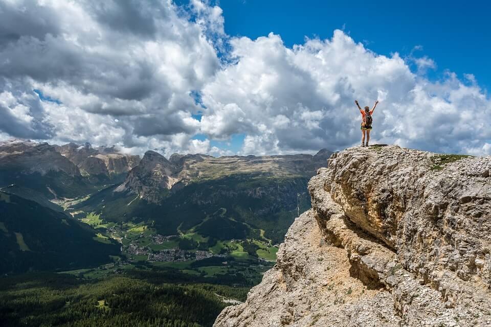 Mann auf Berg